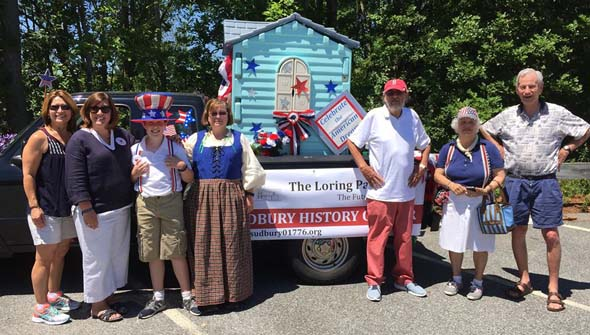The Sudbury Historical Society float and members, July 4th, 2016