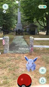 Pokemon in Wadsworth Cemetery