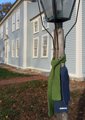 Scarves were hung at the Loring Parsonage and around the town